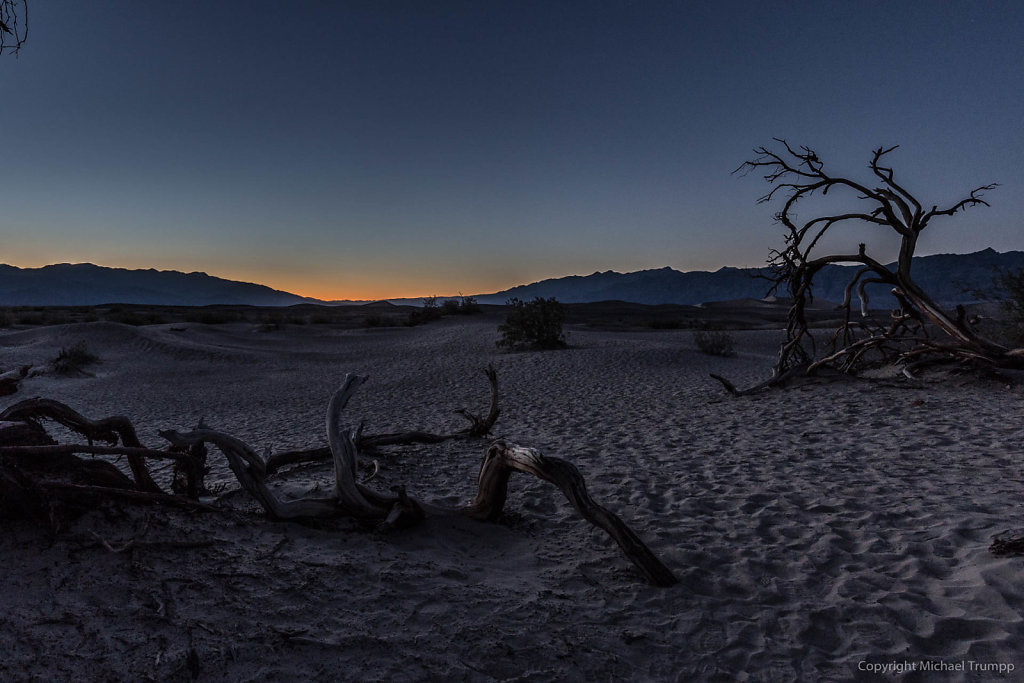 Death Valley Dunes after sunset