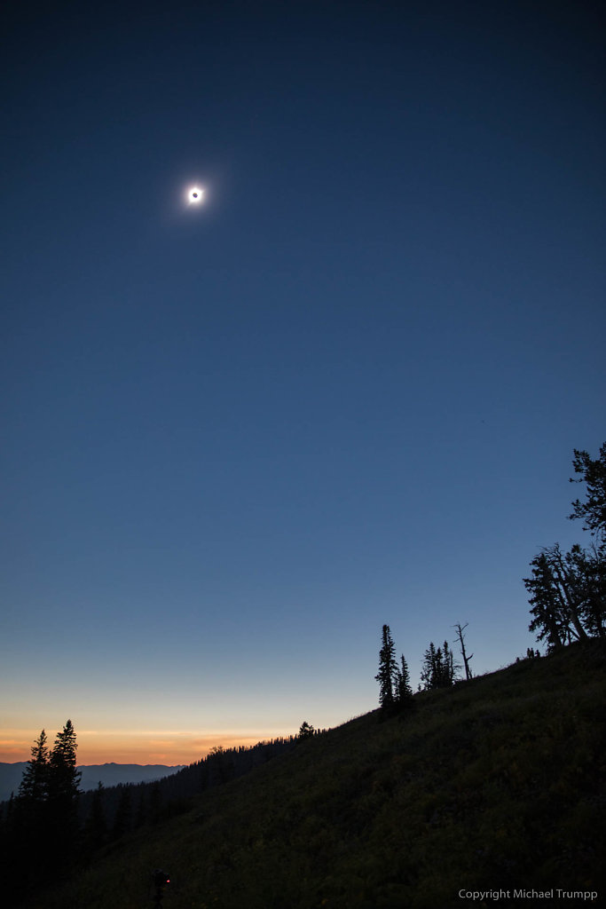 During totality
